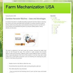 Farm Mechanization USA: Combine Harvester Machine – Uses and Advantages