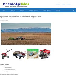Agricultural Mechanization in South Asian Region – 2020