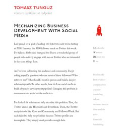 Mechanizing business development with social media