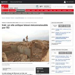 Irak: un site antique laissé méconnaissable par l'EI