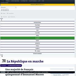 Une majorité de Français «mécontents» du début de quinquennat d'Emmanuel Macron