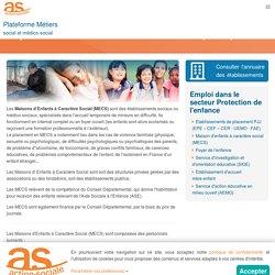 MECS : Emploi en MECS dans le médico-social