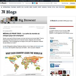 MÉDAILLE POUR TOUS – La carte du monde où chaque pays est champion