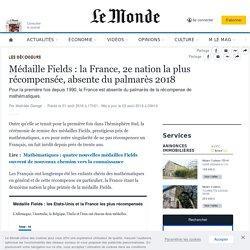 Médaille Fields: la France, 2enation la plus récompensée, absente du palmarès 2018