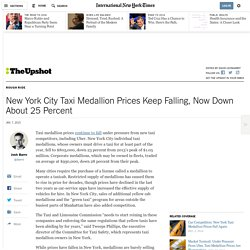 New York City Taxi Medallion Prices Keep Falling, Now Down About 25 Percent