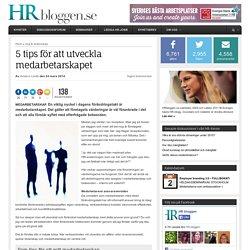 5 tips för att utveckla medarbetarskapet