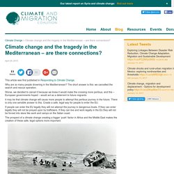 Climate change and Syrian refugees in the MedClimate & Migration Coalition