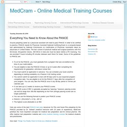 MedCram - Online Medical Training Courses: Everything You Need to Know About the PANCE