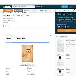 Médecine et anatomie for Léonard de Vinci