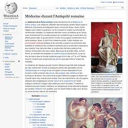 Médecine durant l'Antiquité romaine