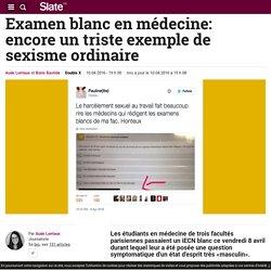 Examen blanc en médecine: encore un triste exemple de sexisme ordinaire