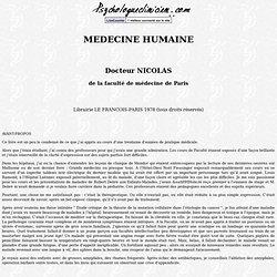 medecine humaine