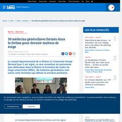 Drôme : 30 médecins généralistes formés pour devenir maîtres de stage