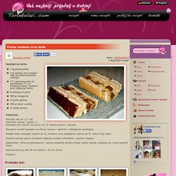 Posna medeno srce torta