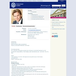 prof. mr. F.A. Engelen - Medewerkers - Faculteit der Rechtsgeleerdheid