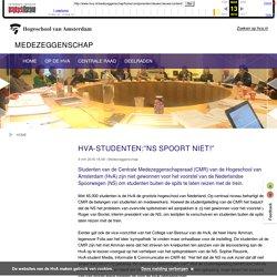 """HvA-studenten:""""NS spoort niet!"""" - Medezeggenschap - Hogeschool van Amsterdam"""