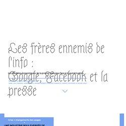 Cartographie des controverses : Les frères ennemis de l'info : Google, Facebook et la presse. Sciences PO