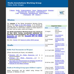 W3C Media Annotations Working Group