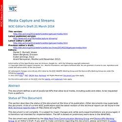 Media Capture and Streams