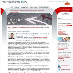 Mail Media Centre - How to brief your creative team