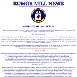 MEDIA EMAIL ADDRESSES