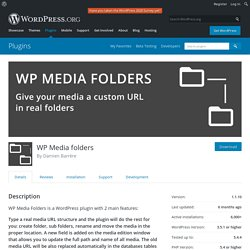 WP Media folders – WordPress plugin