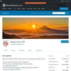 Media from FTP – WordPress plugin