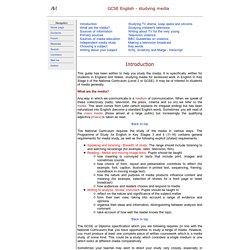 Media - GCSE study guide