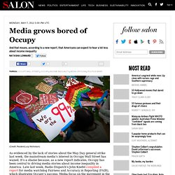 Media grows bored of Occupy