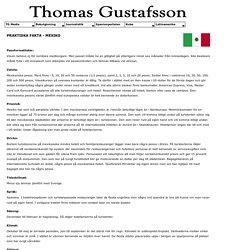 TG Media - Guide till Mexiko - praktiska fakta