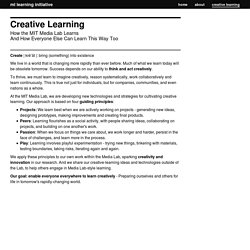 Media Lab Learning