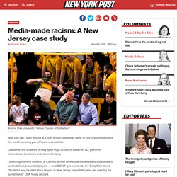 Media-made racism: A New Jersey case study