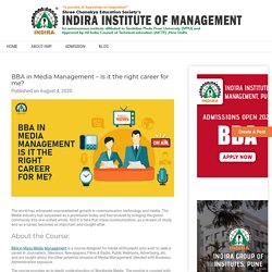 BBA in Media Management - Is it the right career for me?