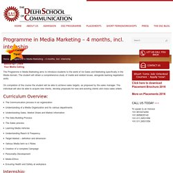 Media Marketing Short Term Course - DSC