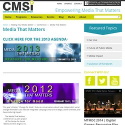 Media That Matters 2012: Change for Good