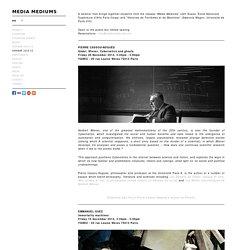 Media Mediums - séminaire 2014-15