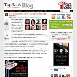 New Media Rat Pack eBook – Win Big With These 52 Tips #NMX