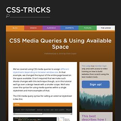 CSS Media Queries
