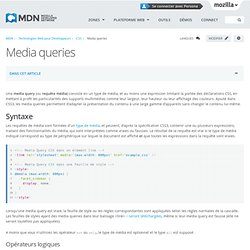 Media queries - CSS