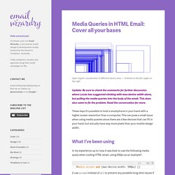 Media Queries in HTML Email: Cover all your bases – The Email Wizardry Blog