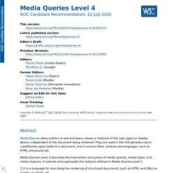 Media Queries Level 4
