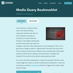 Media Query Bookmarklet