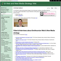 smithsonian-webstrategy.wikispaces