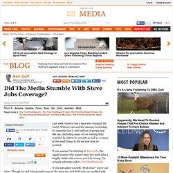 Keli Goff: Did the Media Stumble With Steve Jobs Coverage?