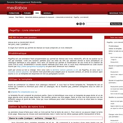 PageFlip - Livre interactif - Mediabox - Centre de Formation Adobe - Ressources