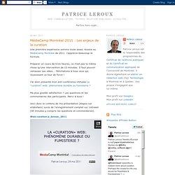 MédiaCamp Montréal-2011 : Les enjeux de la curation