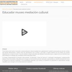 Máster Universitario en Educación y Museos
