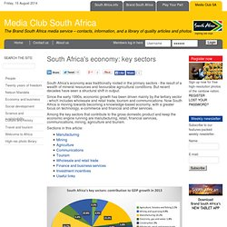 South Africa's economy: key sectors