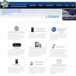 MediaCoder - Choose your MediaCoder edition