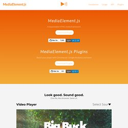 MediaElement.js - HTML5 video player and audio player with Flash and Silverlight shims